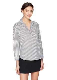 Velvet by Graham & Spencer Women's Idona Stripe Popover Shirt  L
