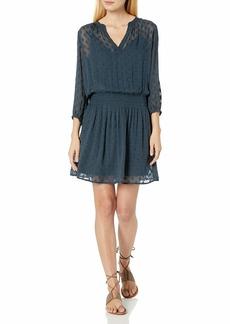 Velvet by Graham & Spencer Women's Jael Georgette dot Dress  L