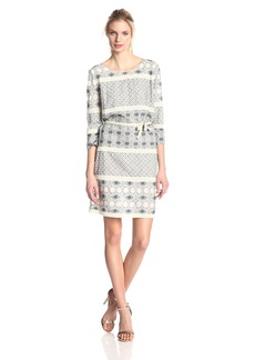 VELVET BY GRAHAM & SPENCER Women's Jaipur Embroidered Long Sleeve Dress