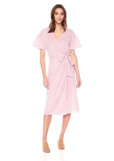 Velvet by Graham & Spencer Women's Jayel Striped Wrap Dress  S