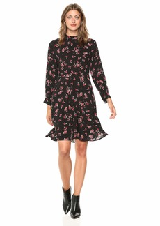 Velvet by Graham & Spencer Women's Juliet Printed Challis Dress  XS