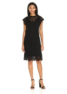 VELVET BY GRAHAM & SPENCER Women's Lace Capsleeve Dress  S