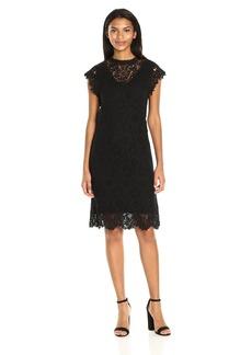 VELVET BY GRAHAM & SPENCER Women's Lace Capsleeve Dress  S