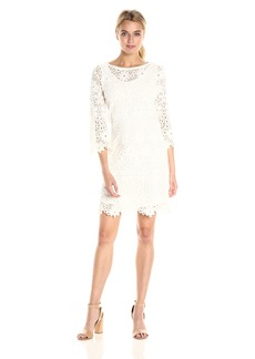 VELVET BY GRAHAM & SPENCER Women's Lace Longsleeve Dress  M