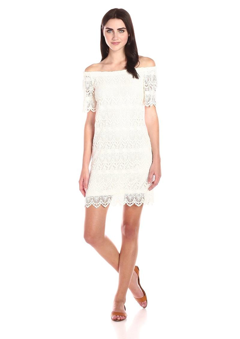 VELVET BY GRAHAM & SPENCER Women's Lace Off-the-Shoulder Dress