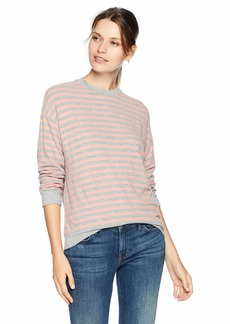 Velvet by Graham & Spencer Women's Landry Cozy Stripe Top  L