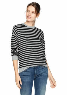 Velvet by Graham & Spencer Women's Landry Cozy Stripe top  M