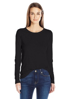 Velvet by Graham & Spencer Women's Lizzie Long Sleeve Crew Neck Tee  XS