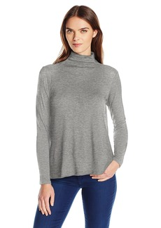 VELVET BY GRAHAM & SPENCER Women's Lux Gauze Swing Turtleneck  XS