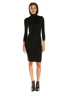 VELVET BY GRAHAM & SPENCER Women's Lux Gauze Turtleneck Dress  XS