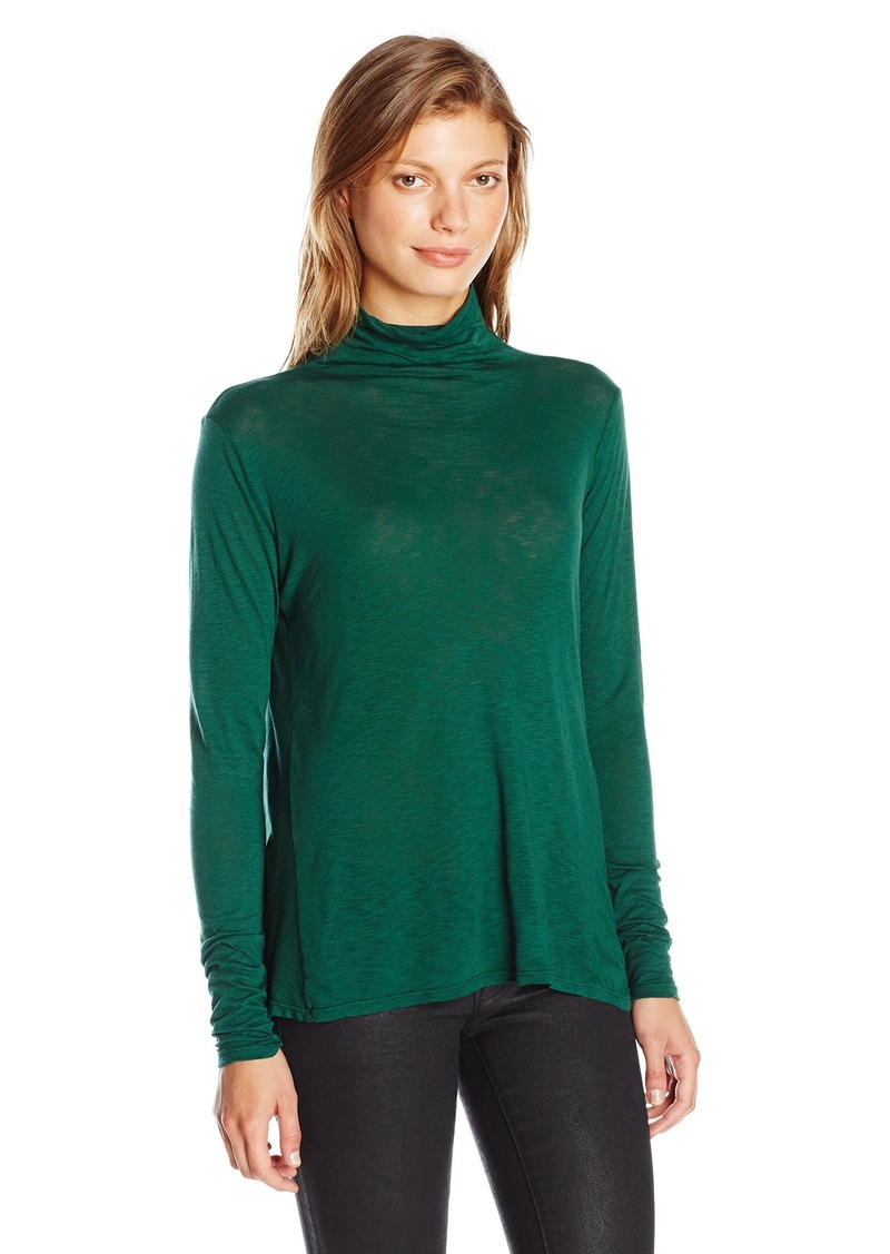 Velvet by Graham & Spencer Women's Lux Slub Swing Turtleneck  L
