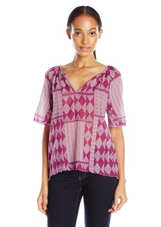 VELVET BY GRAHAM & SPENCER Women's Mali Print Blouse