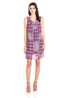 VELVET BY GRAHAM & SPENCER Women's Mali Print Lace up Dress