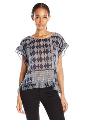 Velvet by Graham & Spencer Women's Mali Print Shortsleeve Top