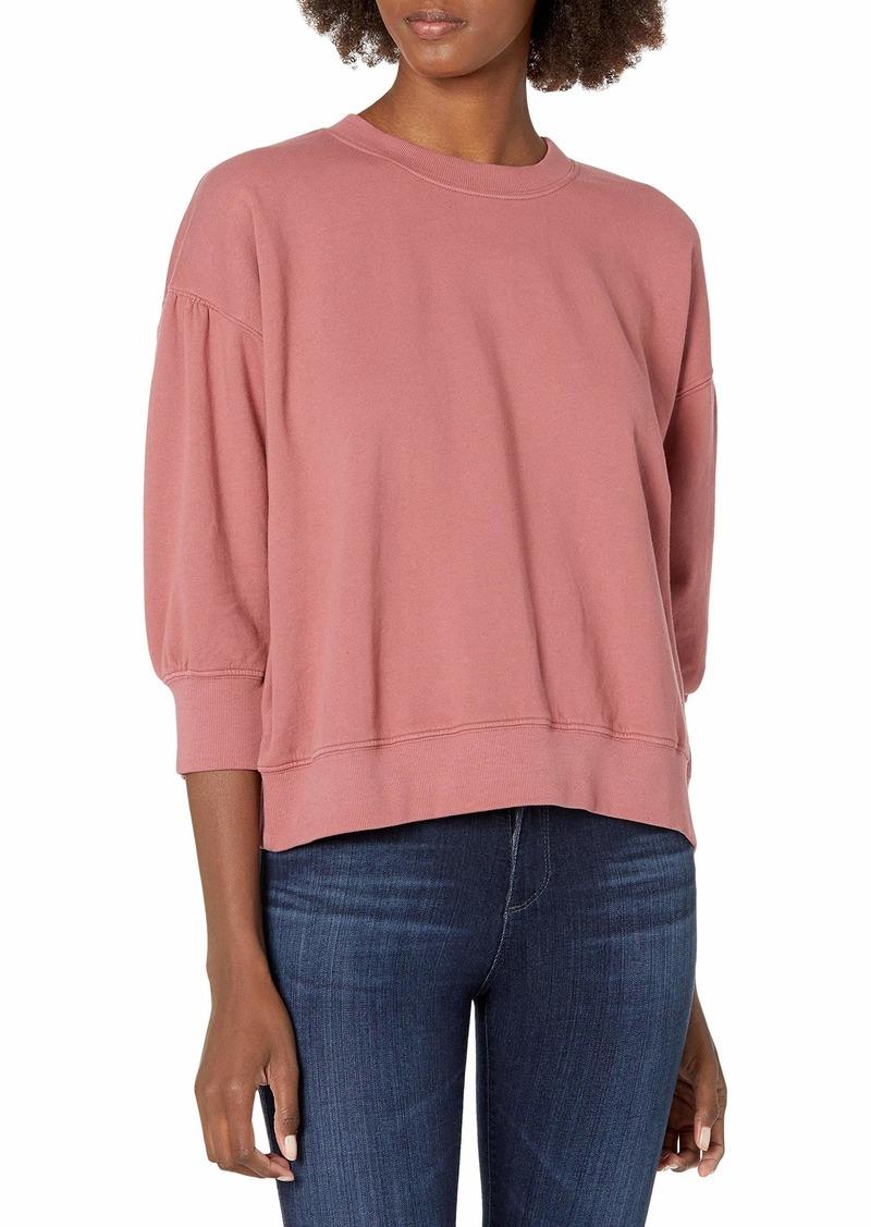 Velvet by Graham & Spencer Women's Maureen 3/4 Sleeve Sweatshirt CRANAPPLE L