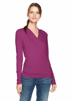 VELVET BY GRAHAM & SPENCER Women's Meri Gauzy Whisper Classic top balsamic L