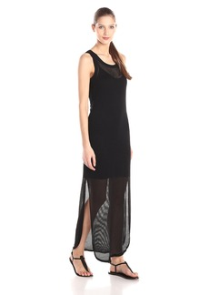 VELVET BY GRAHAM & SPENCER Women's Mesh Sleeveless Lined Maxi Dress