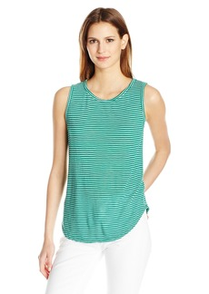 VELVET BY GRAHAM & SPENCER Women's Mini Stripe Knit Tank  L
