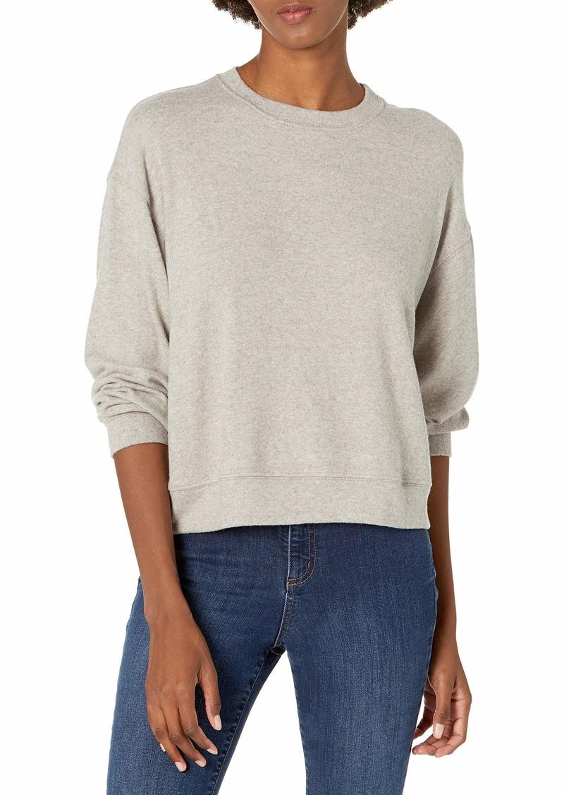 VELVET BY GRAHAM & SPENCER Women's Mira Cozy Lux Sweatshirt GREY XS