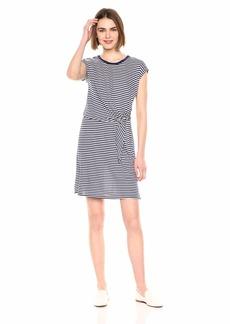 Velvet by Graham & Spencer Women's Mitzi Stripe Linen Blend Knit Dress  XS