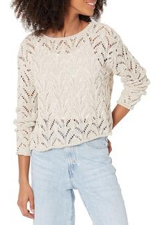 Velvet by Graham & Spencer Women's Nitsa Cotton Tape Sweater  M
