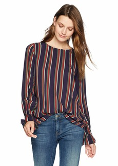Velvet by Graham & Spencer Women's Oakley School Stripe Challis Blouse  M