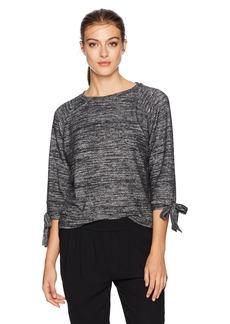 Velvet by Graham & Spencer Women's Pamira Cozy Jersey tie Sleeve Sweatshirt  L