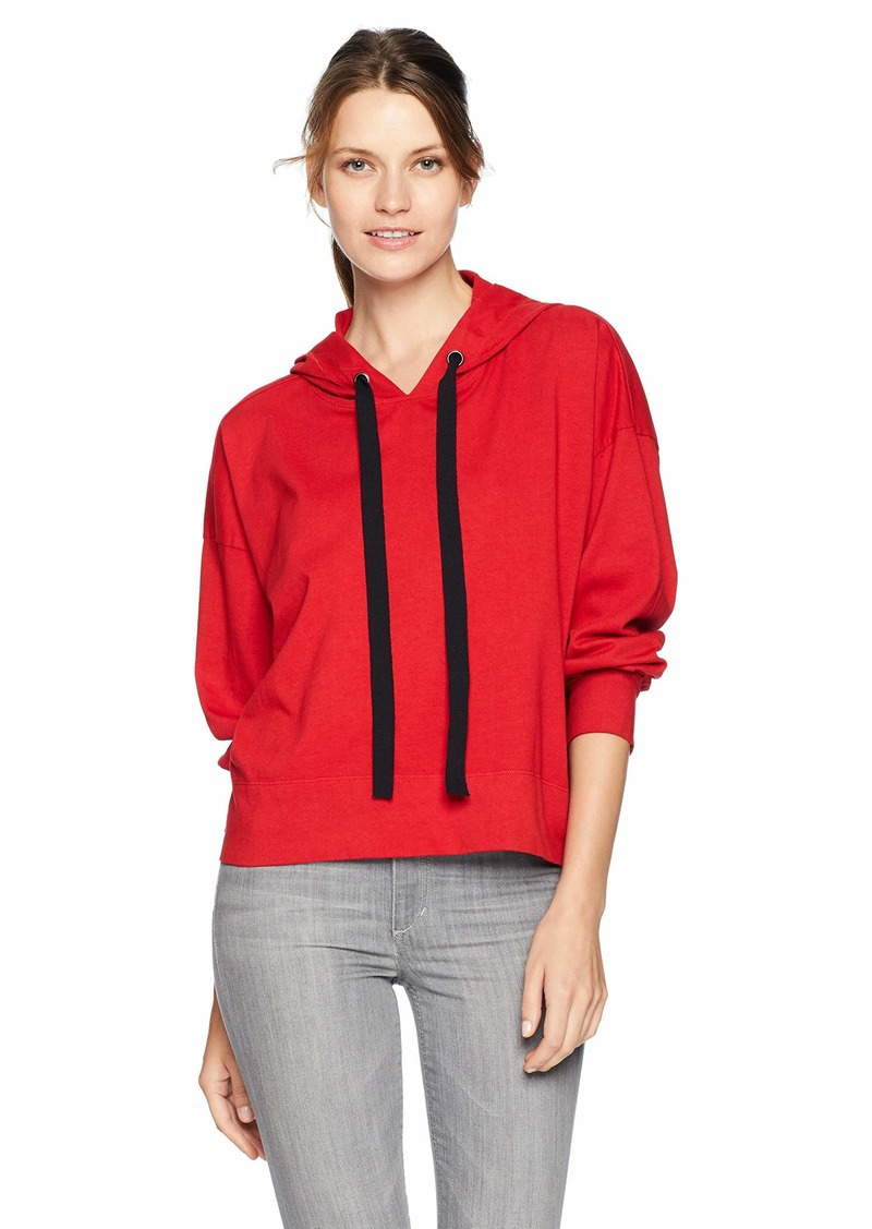 Velvet by Graham & Spencer Women's Pandora Structured Cotton Sweatshirt red XS