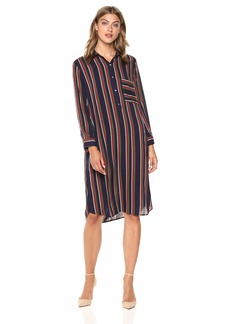 Velvet by Graham & Spencer Women's Pero School Stripe Challis Dress  L