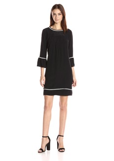 VELVET BY GRAHAM & SPENCER Women's Pintuck 3/4 Sleeve Dress  M