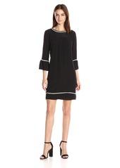 Velvet by Graham & Spencer Women's Pintuck 3/4 Sleeve Dress  S