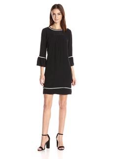 Velvet by Graham & Spencer Women's Pintuck 3/4 Sleeve Dress  M