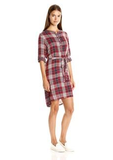 VELVET BY GRAHAM & SPENCER Women's Plaid Shirtdress  S