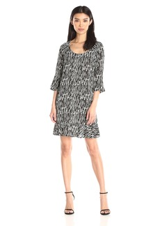 VELVET BY GRAHAM & SPENCER Women's Printed Challis Dress