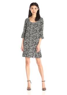 VELVET BY GRAHAM & SPENCER Women's Printed Challis Dress