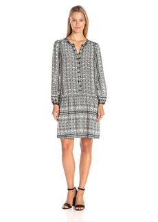 VELVET BY GRAHAM & SPENCER Women's Printed Challis Shirtdress  M