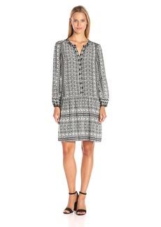 VELVET BY GRAHAM & SPENCER Women's Printed Challis Shirtdress  S