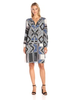 VELVET BY GRAHAM & SPENCER Women's Printed Challis Shirtdress  XS