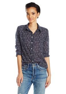 VELVET BY GRAHAM & SPENCER Women's Printed Cotton Button Down Shirt  S
