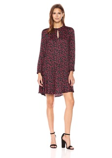 VELVET BY GRAHAM & SPENCER Women's Printed Silky Challis Dress  M