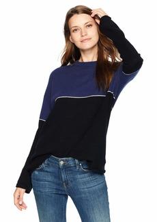 Velvet by Graham & Spencer Women's Raven Cashmere Classic Sweater  L