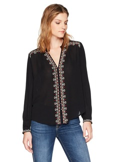 Velvet by Graham & Spencer Women's Remi Embroidered Shirt  S