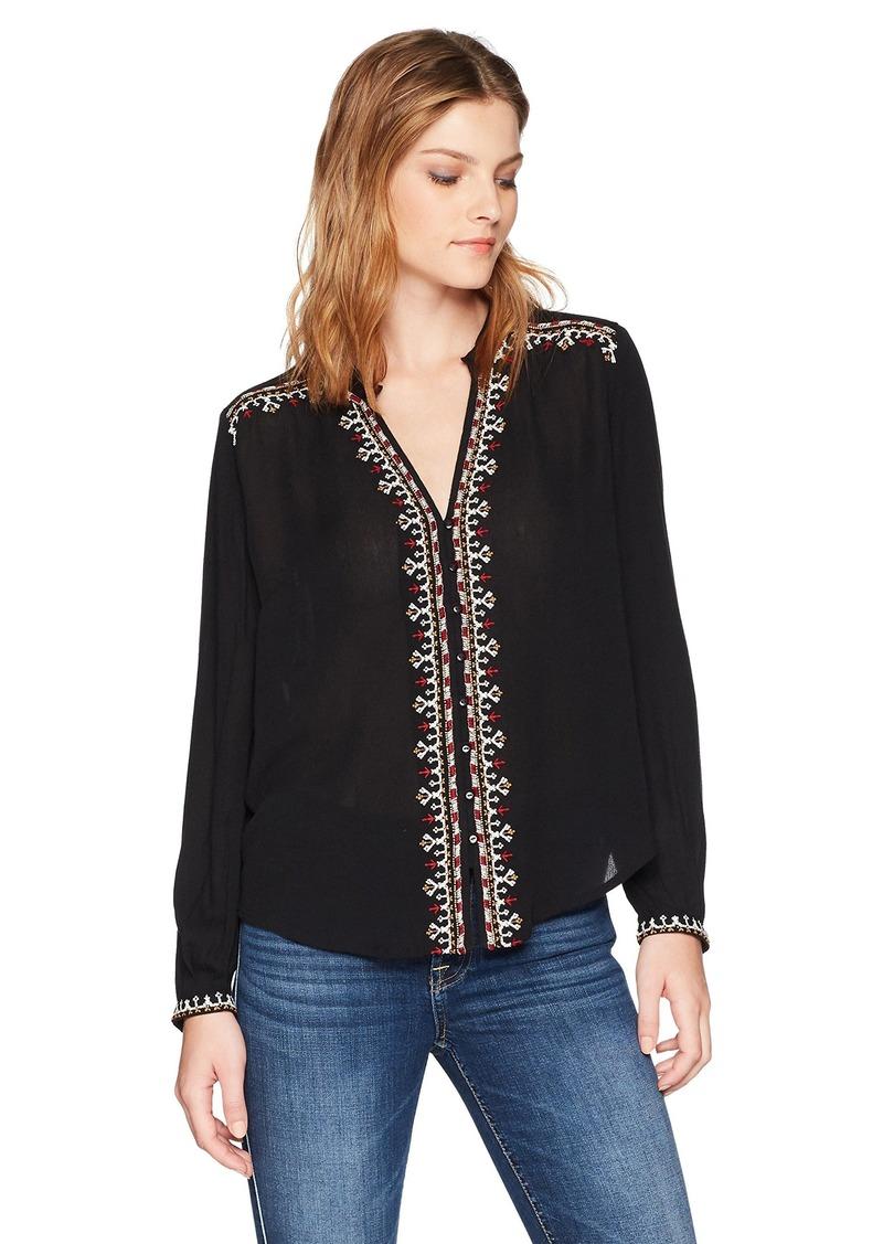 Velvet by Graham & Spencer Women's Remi Embroidered Shirt  S