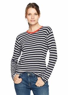 Velvet by Graham & Spencer Women's Renny Slub Knit Stripe Tee  L
