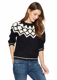 Velvet by Graham & Spencer Women's Robyn Fair Isle Sweater  S