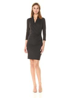 Velvet by Graham & Spencer Women's Roza Surplice Wrap Dress  S