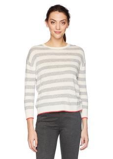 Velvet by Graham & Spencer Women's Rylan Cashmere Blend Stripe Sweater  S
