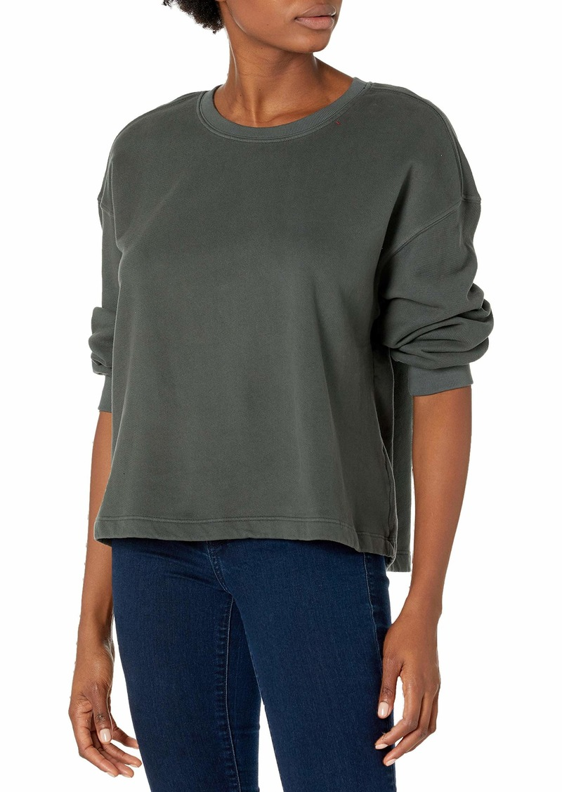 VELVET BY GRAHAM & SPENCER Women's Sarah Soft Fleece 3/4 Puff Sleeve Sweatshirt  XS