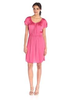 Velvet by Graham & Spencer Women's Satin Pleated Dress