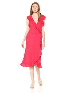 Velvet by Graham & Spencer Women's Sedona Slub Wrap Dress  XS